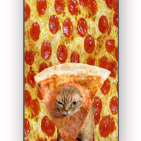 Pizza Cat Because Cat Love Pizza for iPhone 4/4S Case *