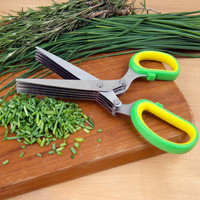 Evelots Herb Kitchen Scissors With 5 Blades Dicing Chopping Vegetables