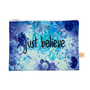 "Ebi Emporium ""Just Believe"" Blue Purple Everything Bag"