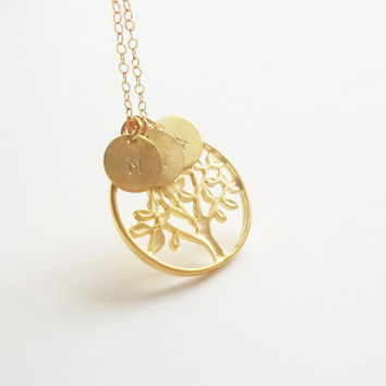 Tree of life necklace, family necklace, mother's necklace, grandma's necklace, dainty, personalized necklace, familly gift