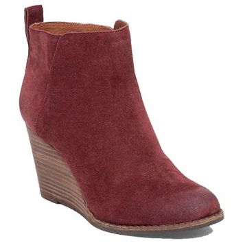 Wine Yezzah Wedge Bootie - Lucky Brand