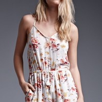 House of Harlow Floral Print Crochet Trim Strappy Romper - Womens Dress - Floral