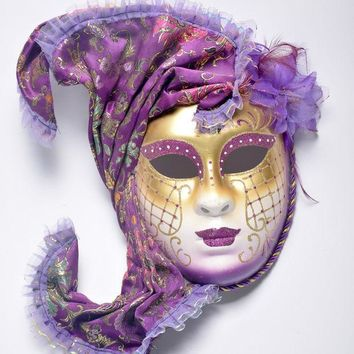 ESBONHS Halloween mask masquerade Venice, antique painting flowers full face party show female mask