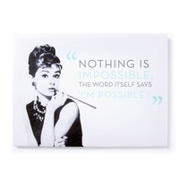 Audrey Hepburn Wall Canvas | Icing