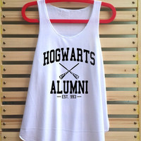 Hogwarts Alumni Shirt Harry Potter shirt tank top clothing vest tee tunic singlet women shirt - size S M
