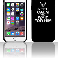 keep calm and wait for him airforce 5 5s 6 6plus phone cases