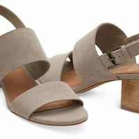 DESERT TAUPE SUEDE AND HEMP WOMEN'S POPPY SANDALS