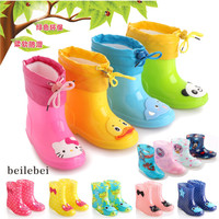 Children's Rain Boots Winter in tube Baby Boys Girls Snow Boots shoes fashion  Baby shoes Children's Rubber boots