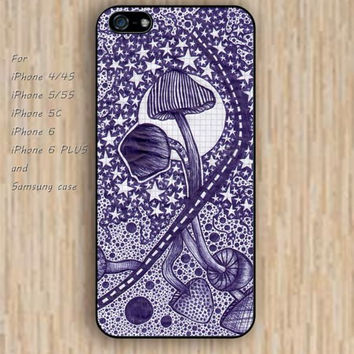 iPhone 5s 6 case Mandala Moon Magic mushroom phone case iphone case,ipod case,samsung galaxy case available plastic rubber case waterproof B330