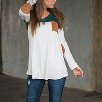 Creatively Casual Top, Emerald