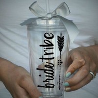 Bride Tribe Clear Tumbler