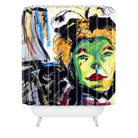 Ginette Fine Art At The Moulin Rouge Abstract Shower Curtain