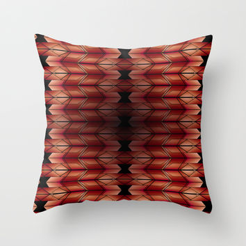 Geometric pattern V1 Throw Pillow by VanessaGF