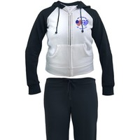 Greece/USA Flag Hearts Women's Tracksuit