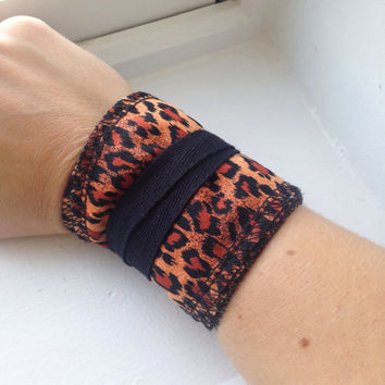 Cheetah Print Crossfit Weight Lifting Wrist Wraps