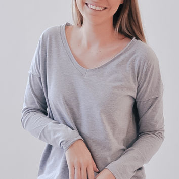 Sedona Pullover - Heather Grey