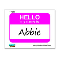 Abbie Hello My Name Is Sticker