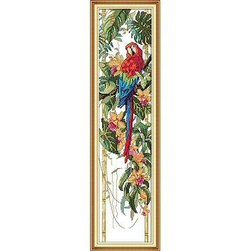 This Scarlet Macaw Home Decoration Cross Stitch Kits Embroidery Needlework Sets Dmc Embroidery Floss In Thread