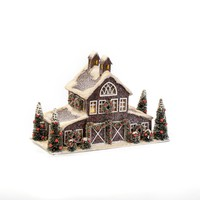 "8.5"" SMALL RED HORSE BARN"