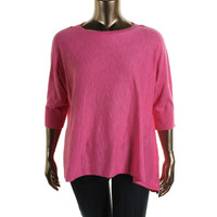 Charter Club Womens Plus Knit Dolman Sleeve Pullover Sweater