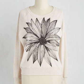 Short Length Long Sleeve Sweatshirt Delightful Vibes Sweatshirt