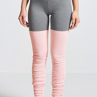 Active Colorblock Ruched Stirrup Leggings