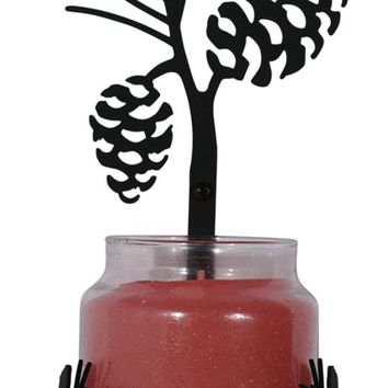 Wrought Iron Pine Cone Sconce - Candle Holder