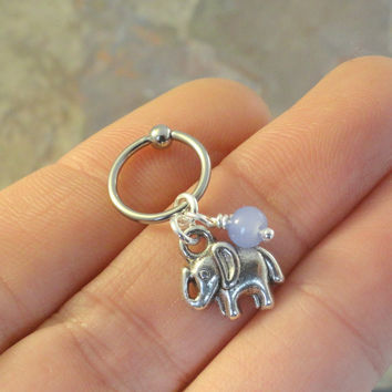 Elephant CBR Earring Belly Button Jewelry Cartilage Hoop