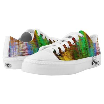 Texture Colorful Rainbow Abstract Paint Art Printed Shoes