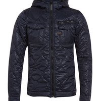 G Star Rovic Quilted Overshirt with Hood