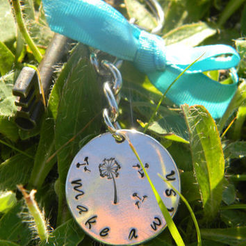 Dandelion make a wish key ring or necklace