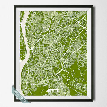 Cairo Print, Egypt Street Map, Cairo Poster, Egypt Map Print, Egyptian, Street Map, Wall Art, Modern Art, Street Map, Back To School