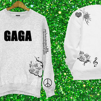 LADY GAGA Tattoo Sweatshirt