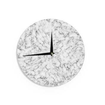"Will Wild ""Marble"" White Gray Wall Clock"