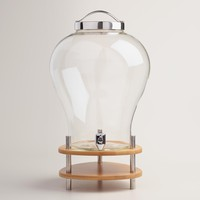 Glass and Bamboo Hot Drink Dispenser