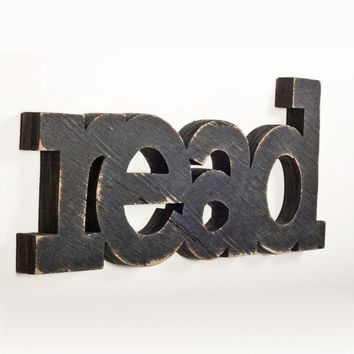 READ sign from recycled wood by WilliamDohman on Etsy