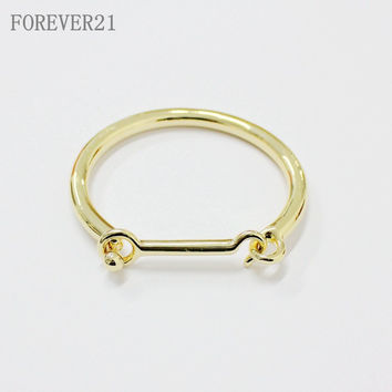 Stylish Shiny New Arrival Jewelry Ladies Strong Character Club Punk Gold Bangle [4956879428]