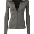 Womens Full Up Zip Long Sleeve Active Sports Running Top