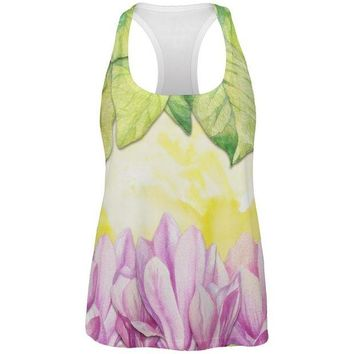 LMFON Mardi Gras French Quarter Magnolias at Sunrise All Over Womens Work Out Tank Top