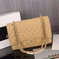 HCXX 19Sep 104 Fashion Pop 1119 Maxi Classic Embossing Chain Flap Bag Casual Quilted Bag 33-22-10cm
