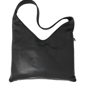 Sven Design Black Leather Hobo Bag