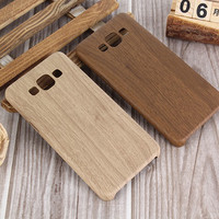 Wood Design Phone Case For Samsung Galaxy A3 A5 A7 2015 Silicone Soft Imitation leather Cover Case
