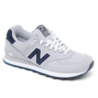 New Balance 574 Pique Polo Shoes - Mens Shoes - Gray