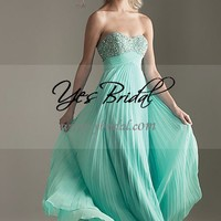 Empire Sweetheart Floor-length Chiffon Prom Bridesmaid Dress SEM0073