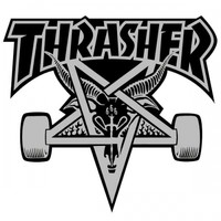 Thrasher Magazine Thrasher Skategoat Logo Sticker