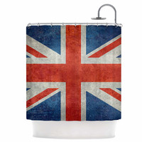 KESS InHouse UK Union Jack Flag Shower Curtain