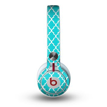 The Morocan Teal Pattern Skin for the Beats by Dre Mixr Headphones