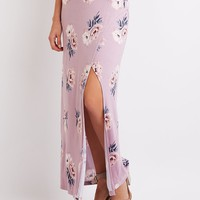 Floral Foldover Maxi Skirt | Charlotte Russe
