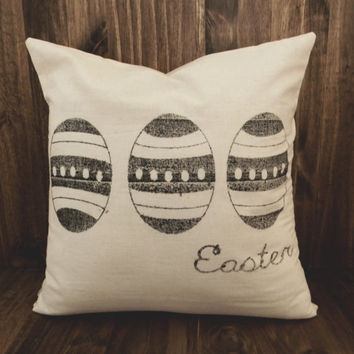 Easter Egg 16 x 16 Pillow Cover, houswarming gift, seaonal