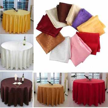 1M Dia Round Tablecloth Table Cover Cloth Elegant Flower Pattern [7981850119]